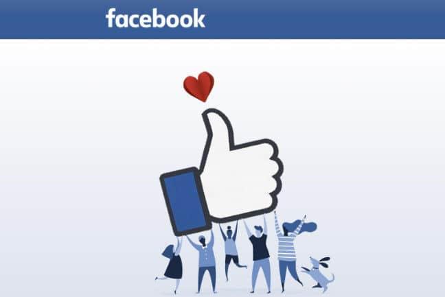 ringraziare su Facebook like con il cuore
