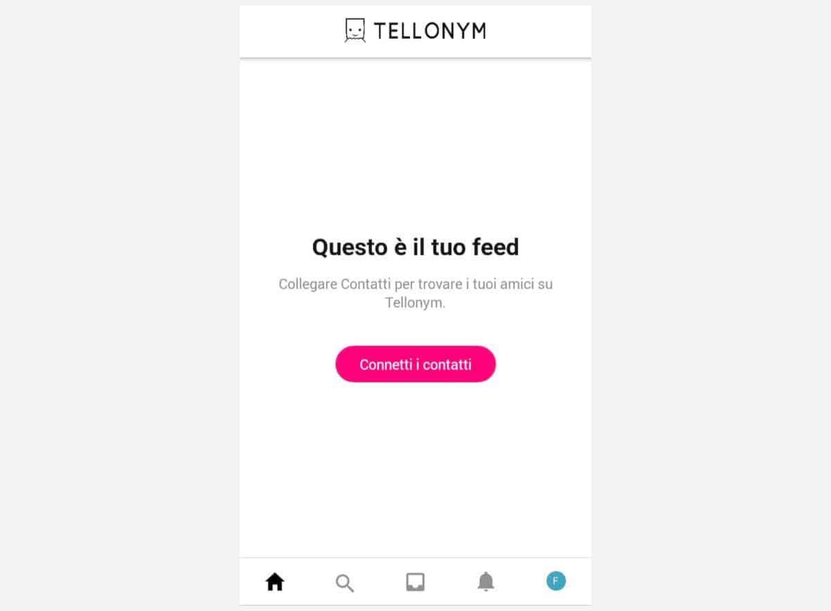 chi scrive su Tellonym opzione per collegare i contatti