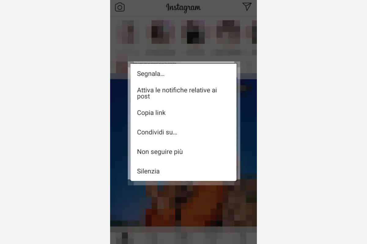 copiare link su Instagram post