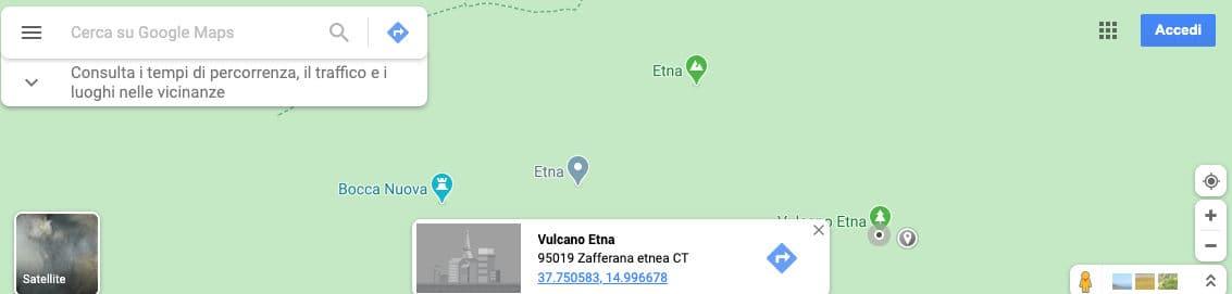 trovare le coordinate di un luogo da PC Google Maps