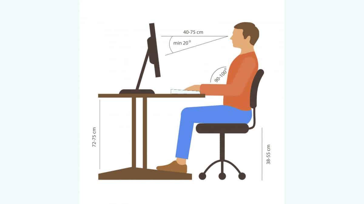postura corretta da seduti