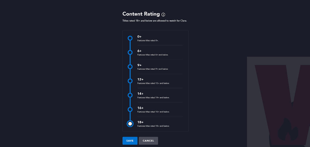 content rating Disney Plus