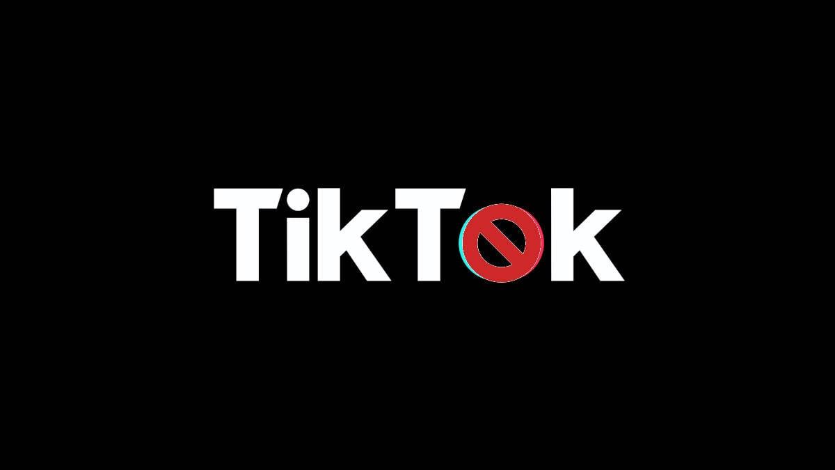 TikTok non funziona icona app con divieto