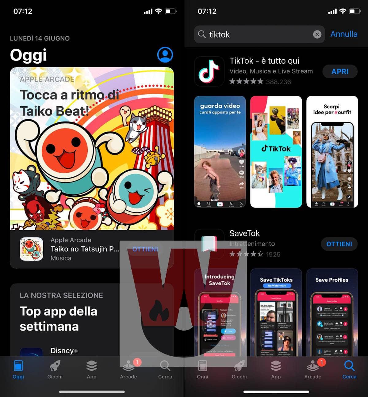 aggiornamento TikTok iOS App Store