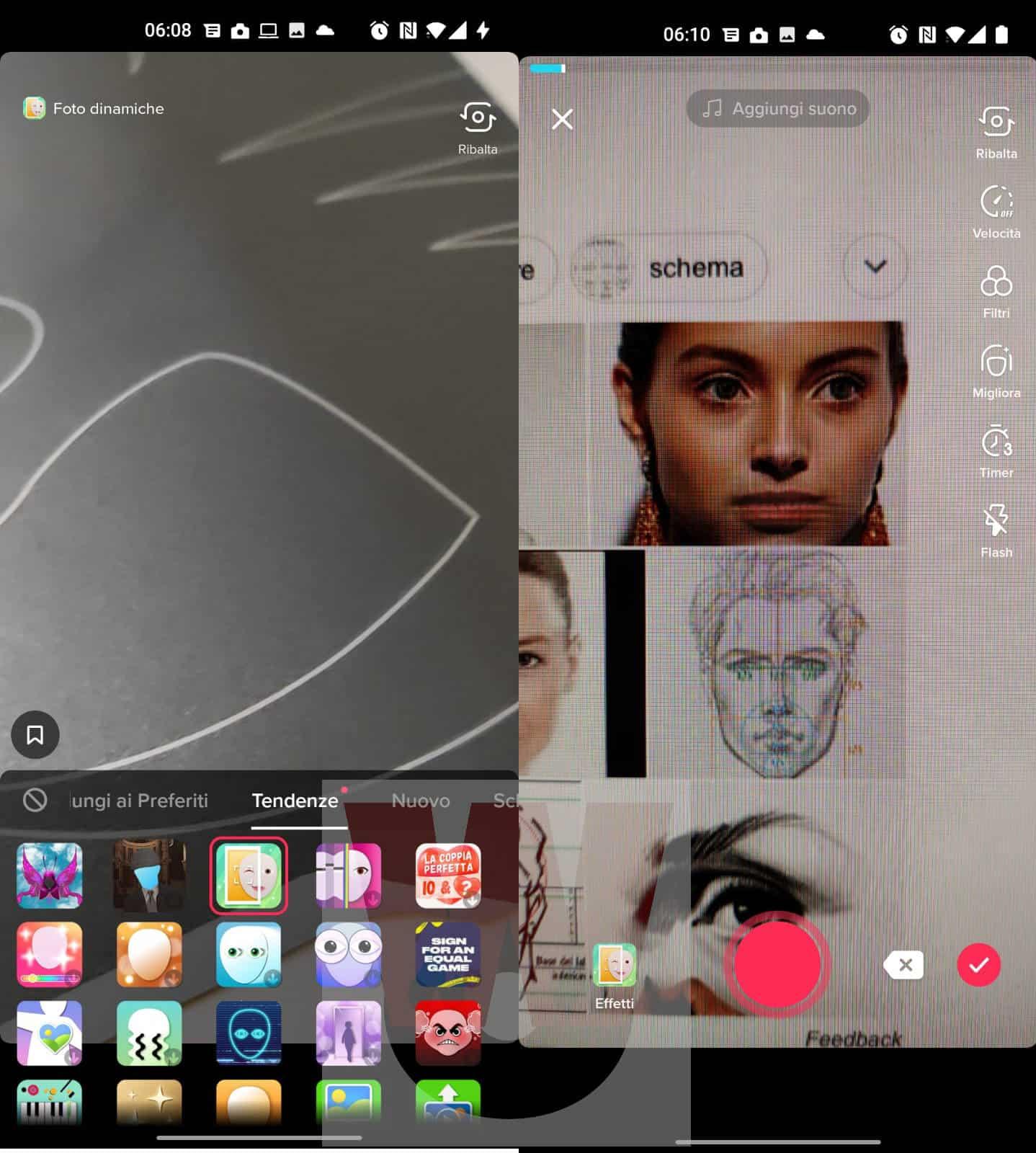 uso filtro foto dinamiche TikTok