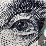 faccia del dollaro con logo TikTok guadagni